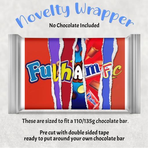 Fulham FC Chocolate Bar Wrapper