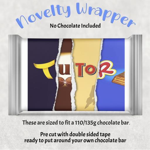 Tutor Chocolate Bar Wrapper