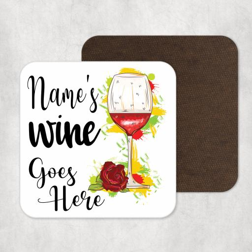 Name's Wine Goes Here Personalised Coaster