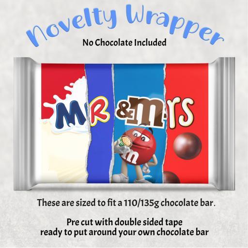 Mr & Mrs Chocolate Bar Wrapper