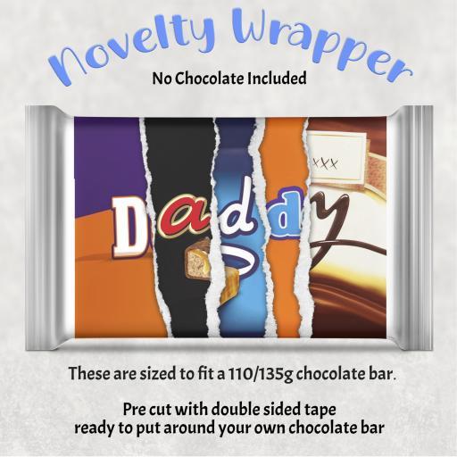 Daddy Chocolate Bar Wrapper
