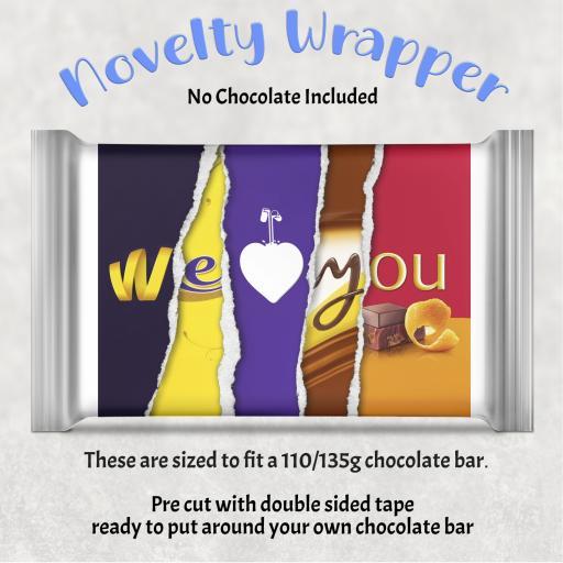 We Heart You Chocolate Bar Wrapper