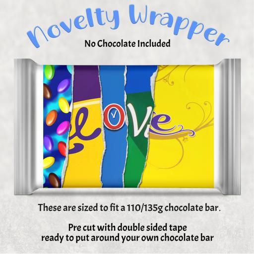 Love Chocolate Bar Wrapper