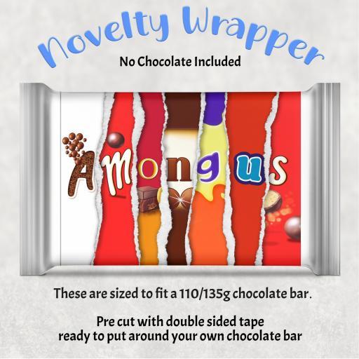 Among us Chocolate Bar Wrapper