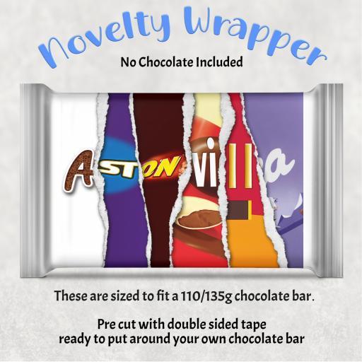 Aston Villa Chocolate Bar Wrapper