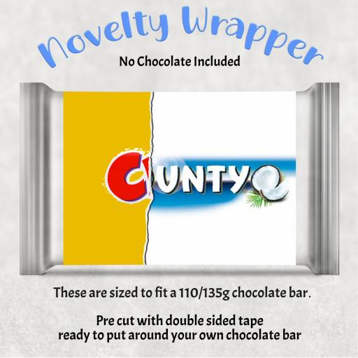 Cunty Chocolate Bar Wrapper