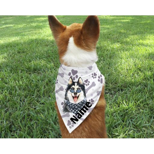 Siberian Husky Personalised Dog Bandana