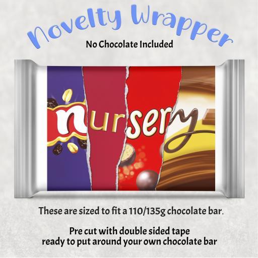 Nursery Chocolate Bar Wrapper