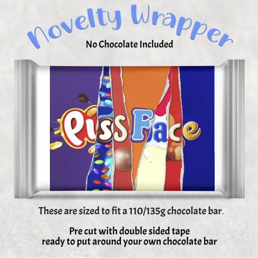 Pissface Chocolate Bar Wrapper