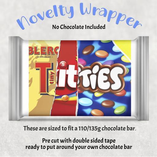Tiny Titties Chocolate Bar Wrapper