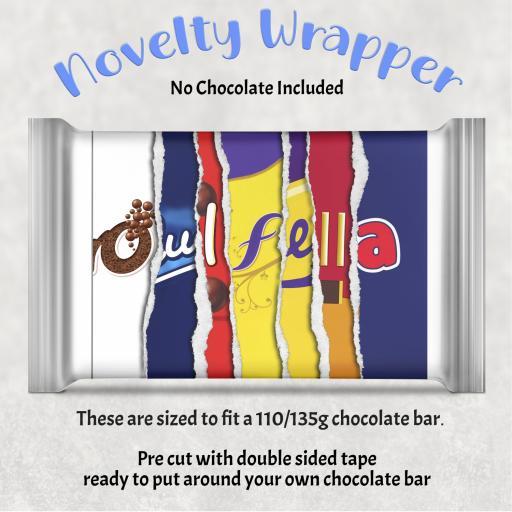 Oul Fella Chocolate Bar Wrapper