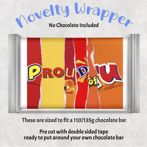Proud of U Chocolate Bar Wrapper