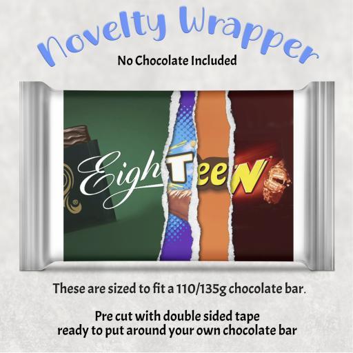 Eighteen Birthday Chocolate Bar Wrapper