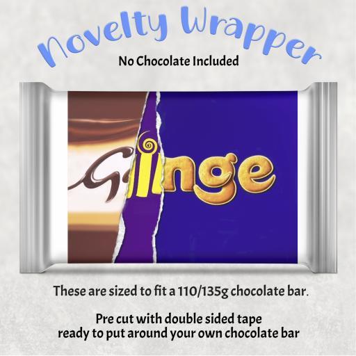Ginge Chocolate Bar Wrapper