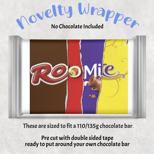 Roomie Chocolate Bar Wrapper