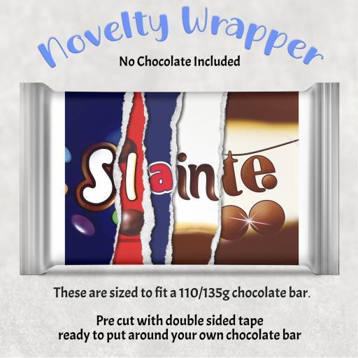 Slainte Chocolate Bar Wrapper