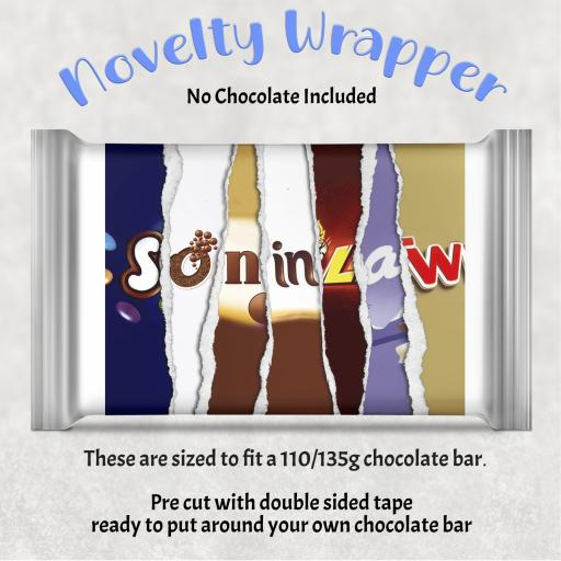 Son in Law Chocolate Bar Wrapper