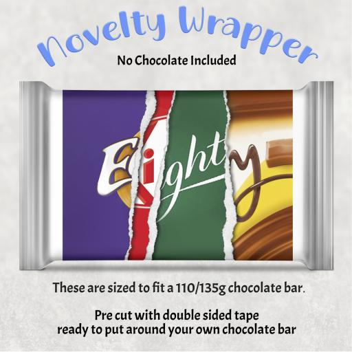 Eighty Birthday Chocolate Bar Wrapper