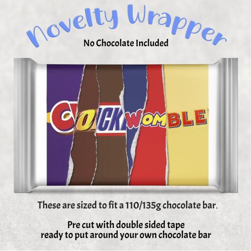 Cockwomble Chocolate Bar Wrapper
