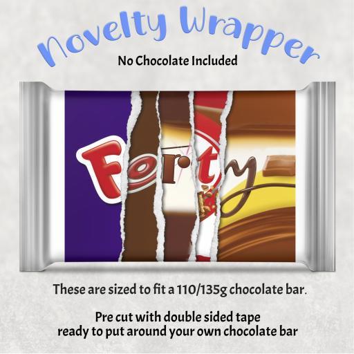 Forty Birthday Chocolate Bar Wrapper
