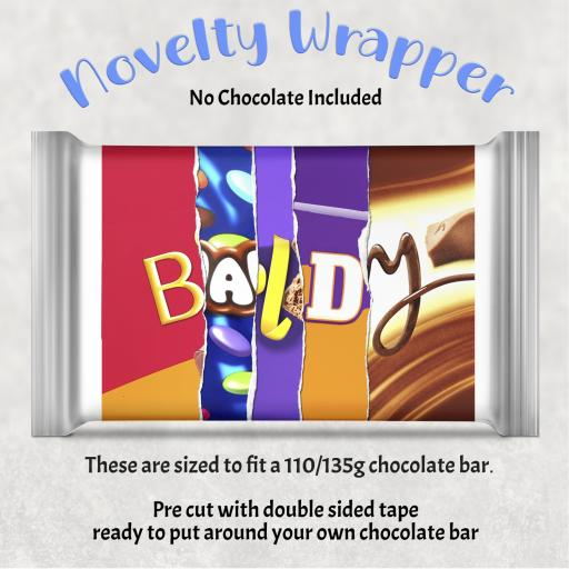 Baldy Chocolate Bar Wrapper