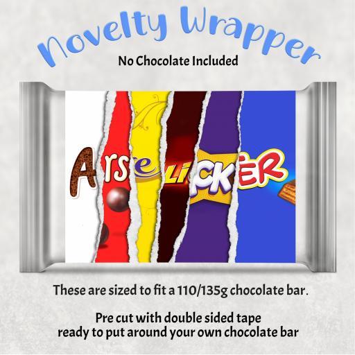Arse licker Chocolate Bar Wrapper