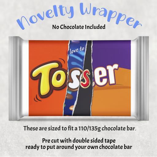 Tosser Chocolate Bar Wrapper