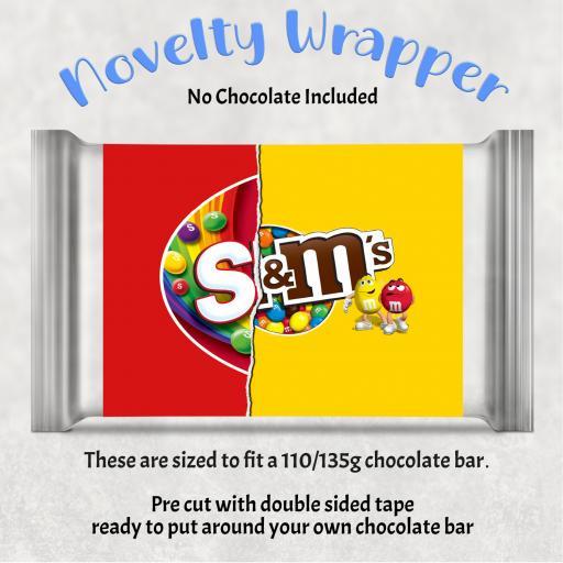 S & M Chocolate Bar Wrapper
