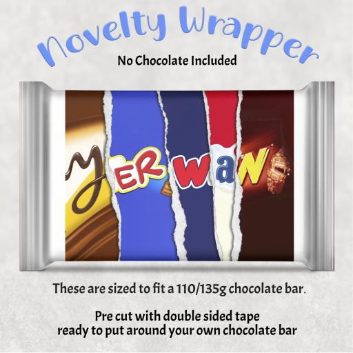 Yer Wan Chocolate Bar Wrapper