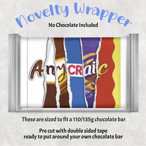 Any Craic Chocolate Bar Wrapper
