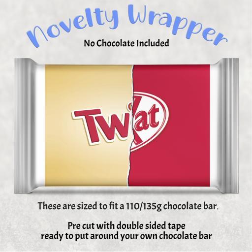 Twat Chocolate Bar Wrapper