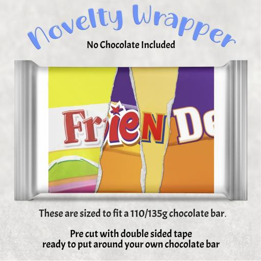 Friend Chocolate Bar Wrapper