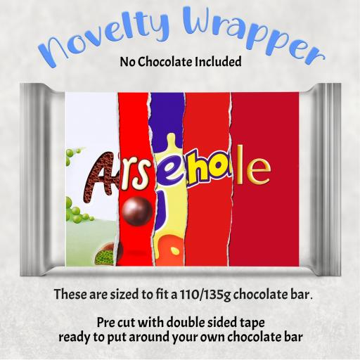 Arsehole Chocolate Bar Wrapper