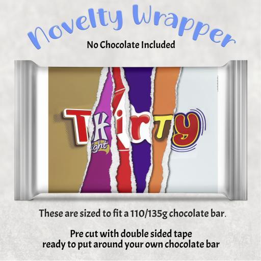 Thirty Birthday Chocolate Bar Wrapper
