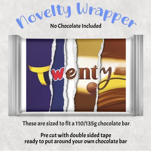 Twenty Birthday Chocolate Bar Wrapper