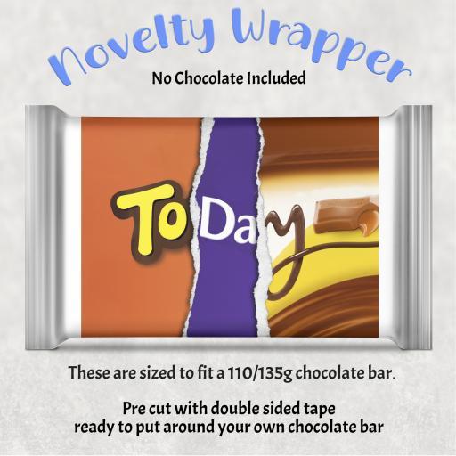 Today Birthday Chocolate Bar Wrapper