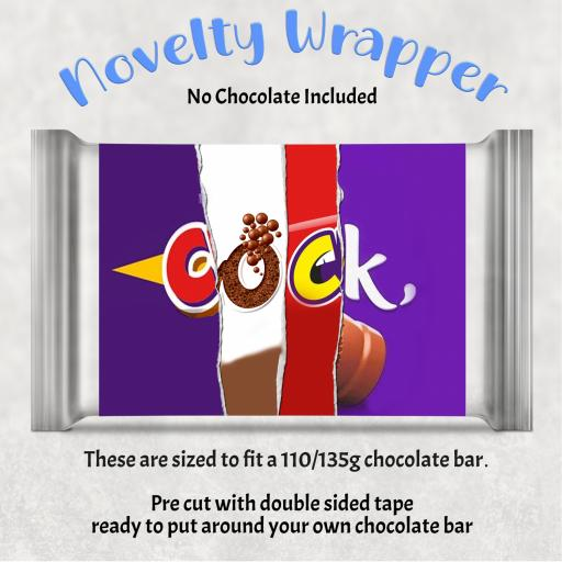 Cock Chocolate Bar Wrapper