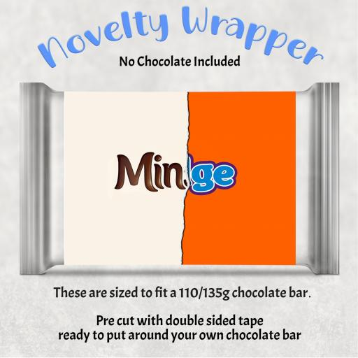 Minge Chocolate Bar Wrapper