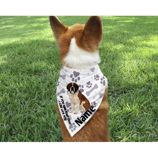 St Bernard Personalised Dog Bandana