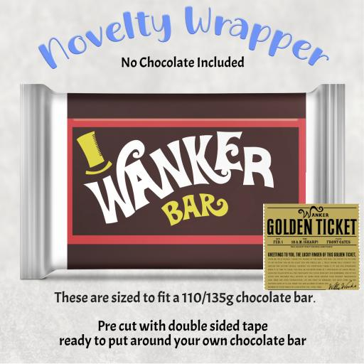Wanker Bar Chocolate Bar Wrapper