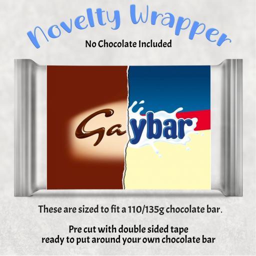 Gaybar Chocolate Bar Wrapper