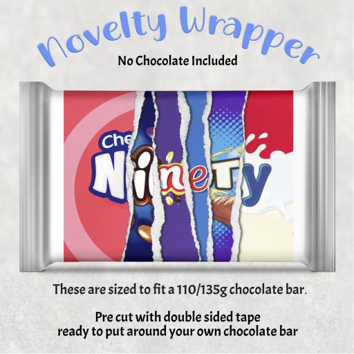 Ninety Birthday Chocolate Bar Wrapper