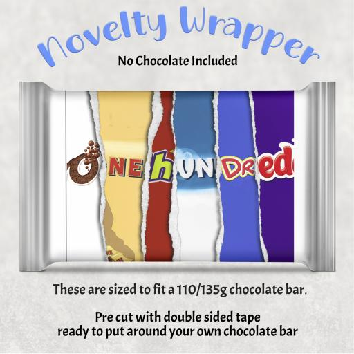 One Hundred Birthday Chocolate Bar Wrapper
