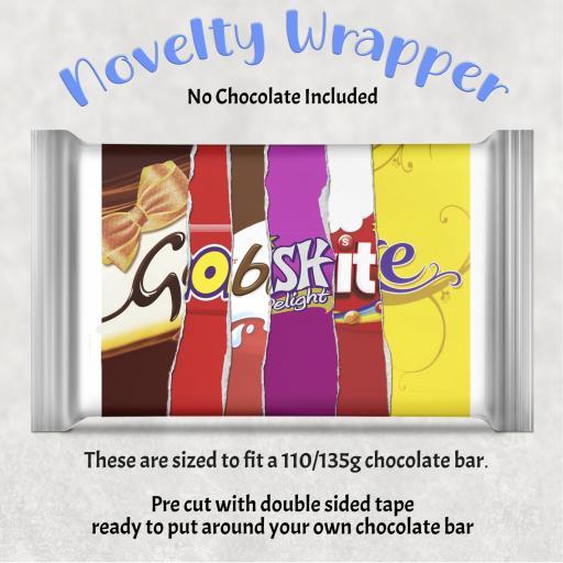 Gobshite Chocolate Bar Wrapper