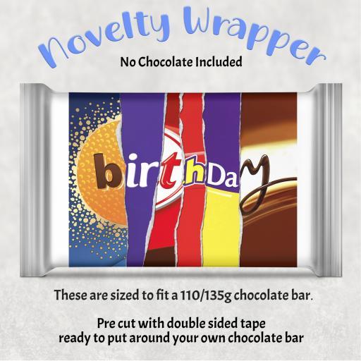 Birthday Chocolate Bar Wrapper