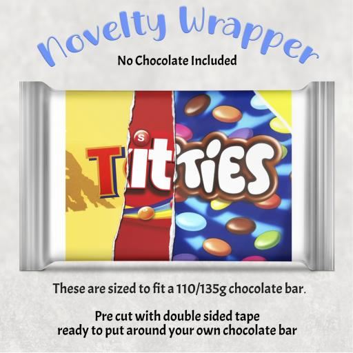 Titties Chocolate Bar Wrapper