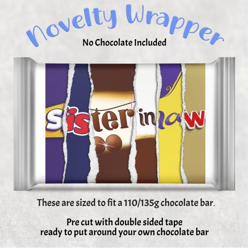 Sister in Law Chocolate Bar Wrapper