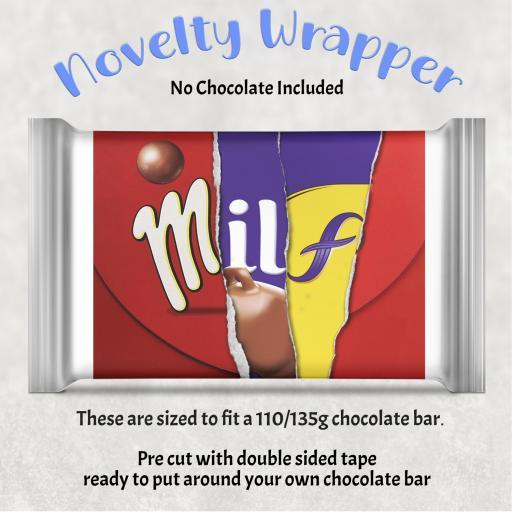 Milf Chocolate Bar Wrapper