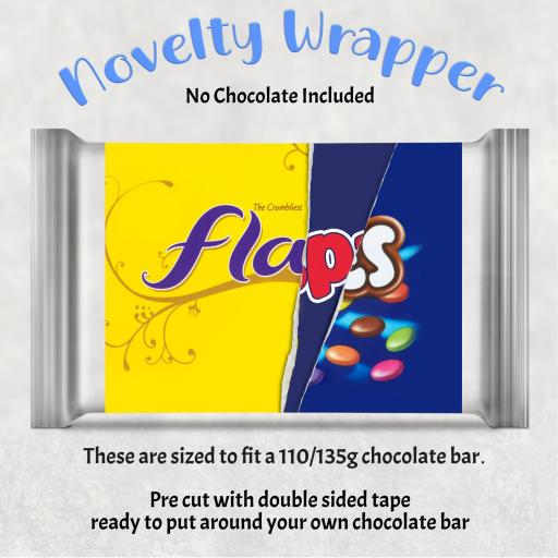 Flaps Chocolate Bar Wrapper