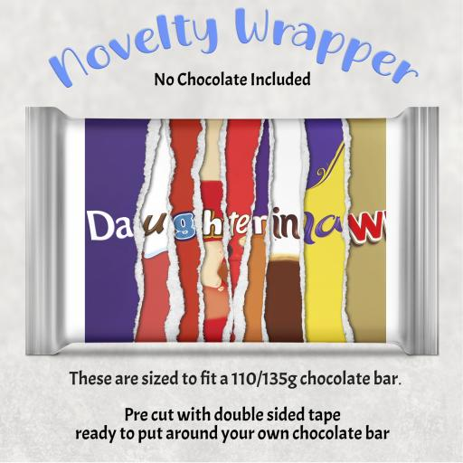Daughter in Law Chocolate Bar Wrapper